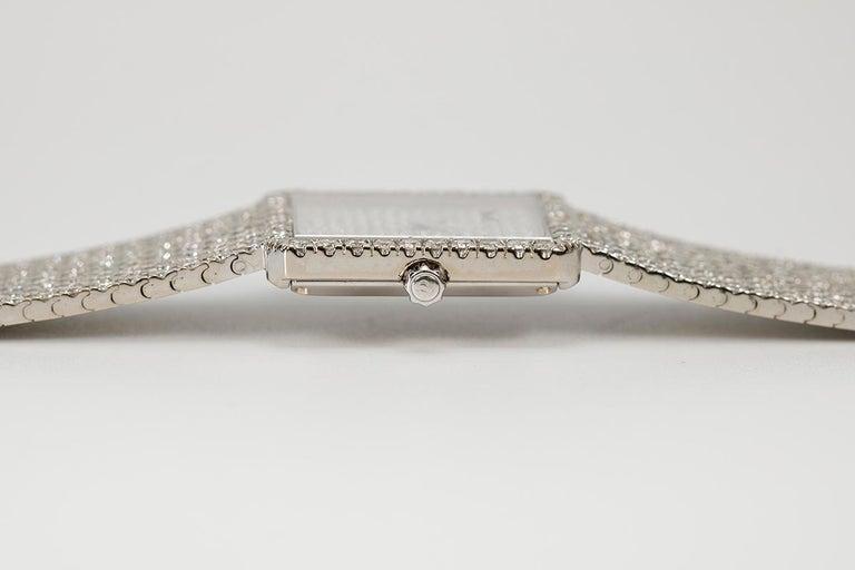 Women's Piaget Protocole 18 Karat White Gold and Diamond Ref 9150, circa 1980 For Sale