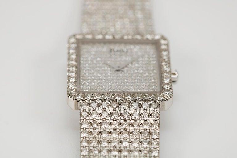 Piaget Protocole 18 Karat White Gold and Diamond Ref 9150, circa 1980 For Sale 1