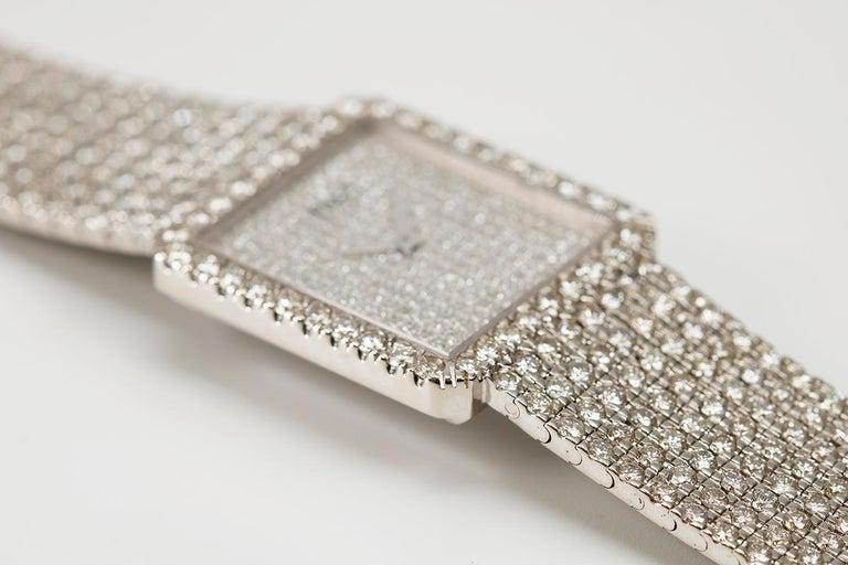 Piaget Protocole 18 Karat White Gold and Diamond Ref 9150, circa 1980 For Sale 2