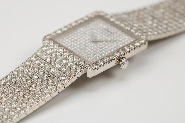 Piaget Protocole 18 Karat White Gold and Diamond Ref 9150, circa 1980 For Sale 3