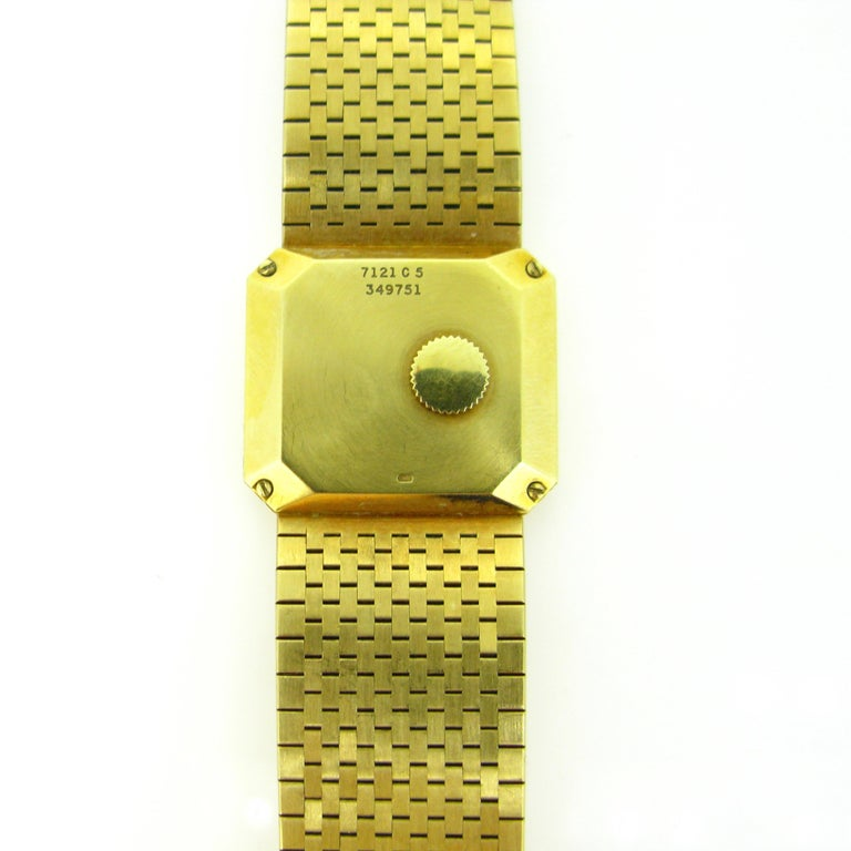 Piaget 1970s Yellow Gold Vintage Wristwatch In Excellent Condition In London, GB