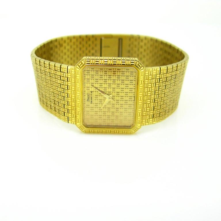 Women's or Men's Piaget 1970s Yellow Gold Vintage Wristwatch