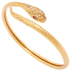Piaget Snake Serpenti Yellow Gold 18k Bracelet