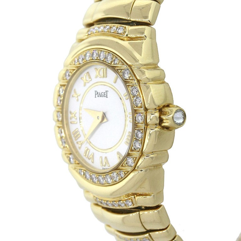 Round Cut Piaget Tanagra Diamond Bezel Ladies Watch For Sale