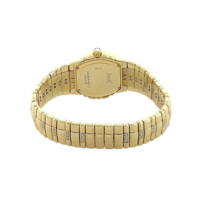 Piaget Tanagra Diamond Bezel Ladies Watch In Excellent Condition For Sale In Boca Raton, FL