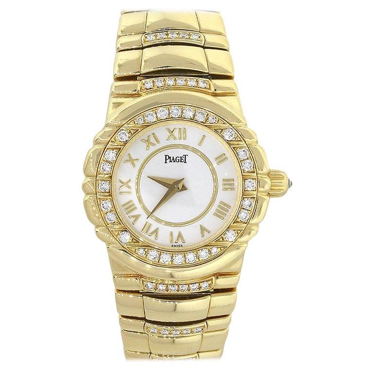 Piaget Tanagra Diamond Bezel Ladies Watch For Sale