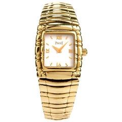 Piaget Tanagra Ref 16051 M 401 D Preowned 18 Karat Gold Watch