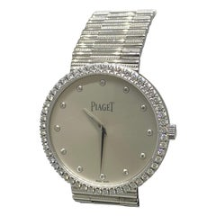 Piaget Traditional 18 Karat Gold and Diamond Silver Dial Ladies Watch G0A37045