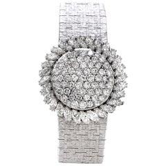 Piaget Vintage 7.00 Carat Diamond 18 Karat White Gold Cover Ladies Watch