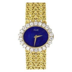 Piaget Vintage Blue Dial Ladies Watch