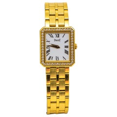 Piaget Vintage Diamond and 18 Karat Yellow Gold Watch