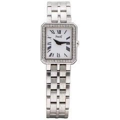 Piaget Vintage Diamond Watch 18 Karat White Gold 47 Factory Diamonds