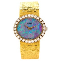 Piaget Vintage Opal Dial Diamond 18K Gold Rare Ladies Watch