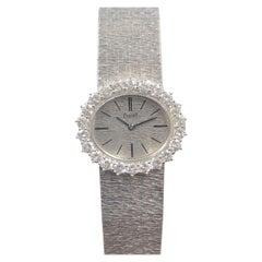 Piaget Vintage White Gold and Diamond Ladies Wrist Watch