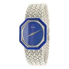Piaget White Gold Lapis Ladies Watch