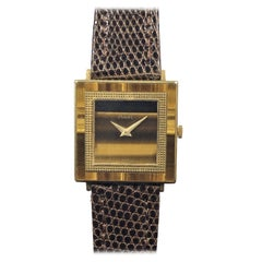 Piaget Yellow Gold and Tigers Eye Mechanical Wristwatch