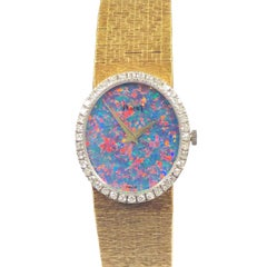 Piaget Yellow Gold Diamonds and Opal Dial Ladies Mechanical Wristwatch