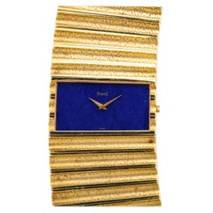 Piaget Yellow Gold Lapis Wristwatch