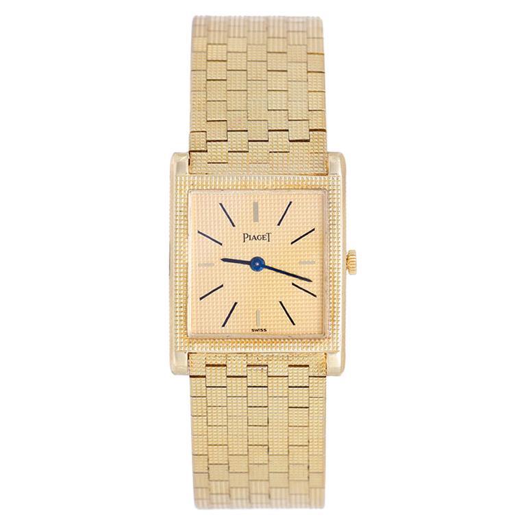 Piaget Yellow Gold Rectangular Dress Manual-Wind Wristwatch