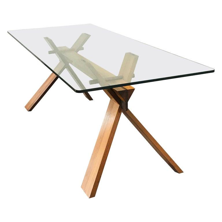 Piana Table Designed by Alfredo Simonit & Giorgio del Piero for Bross For Sale