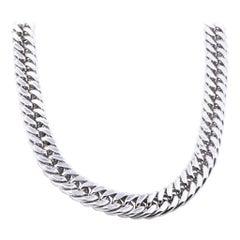 Pianegonda Sterling Silver Cuban Link Necklace
