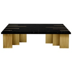 Pianist Coffee Table, Nero Marquina Marble, InsidherLand by Joana Santos Barbosa