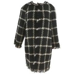 Pianura Studio Black & white Tweed Coat