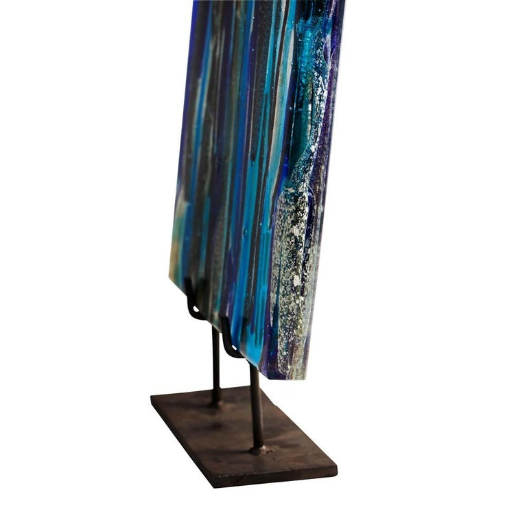 Piastra Art Glass Sculpture by Leonardo Cimolin for Berengo Collection Murano For Sale 1