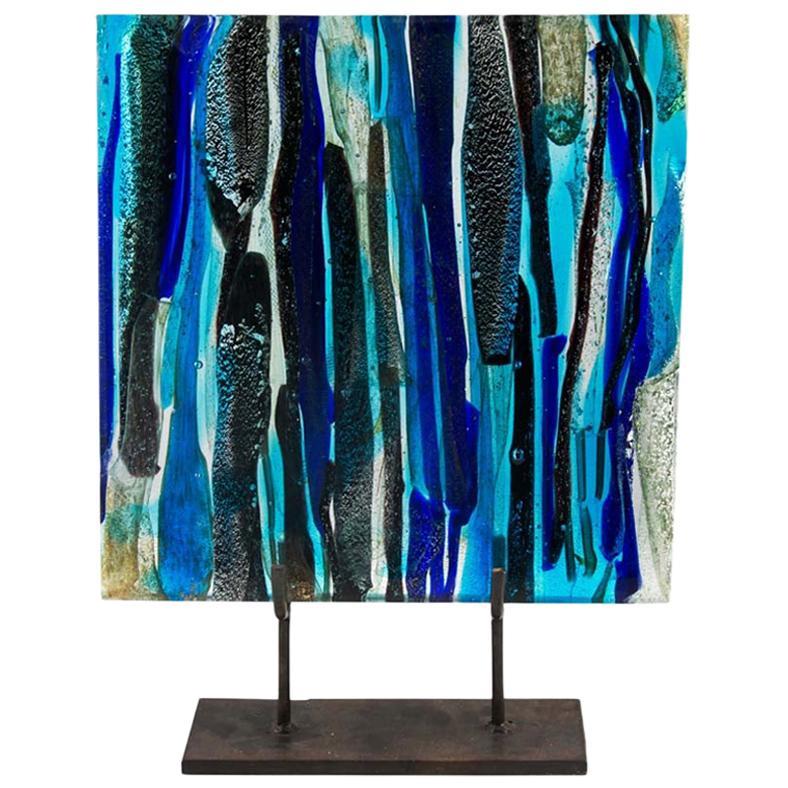 Piastra Art Glass Sculpture by Leonardo Cimolin for Berengo Collection Murano