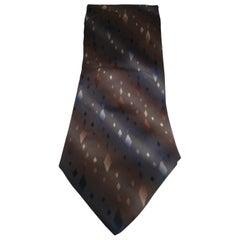 Piattelli grey multicoloured silk tie