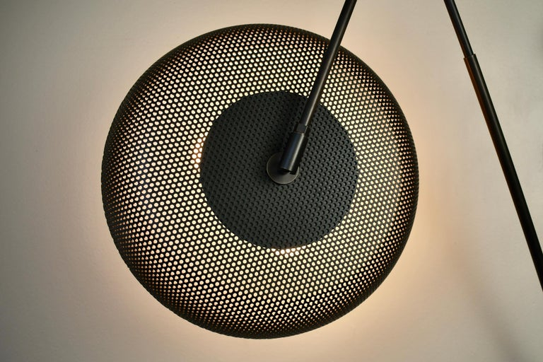Piatto Wall Light or Sconce in Spun Mesh & Oil-Rubbed Bronze, Blueprint Lighting In New Condition For Sale In New York, NY