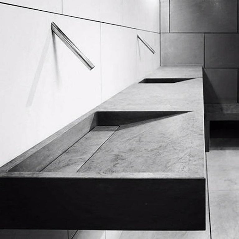 """Designed by Pibamarmi, the slope is ideal for the most sophisticated and modern environment. Tailor made in different dimensions, stones and finishes.  """"Creativity hallmarked by nature"""" is the axiom on which the Pibamarmi has built its innovation"""