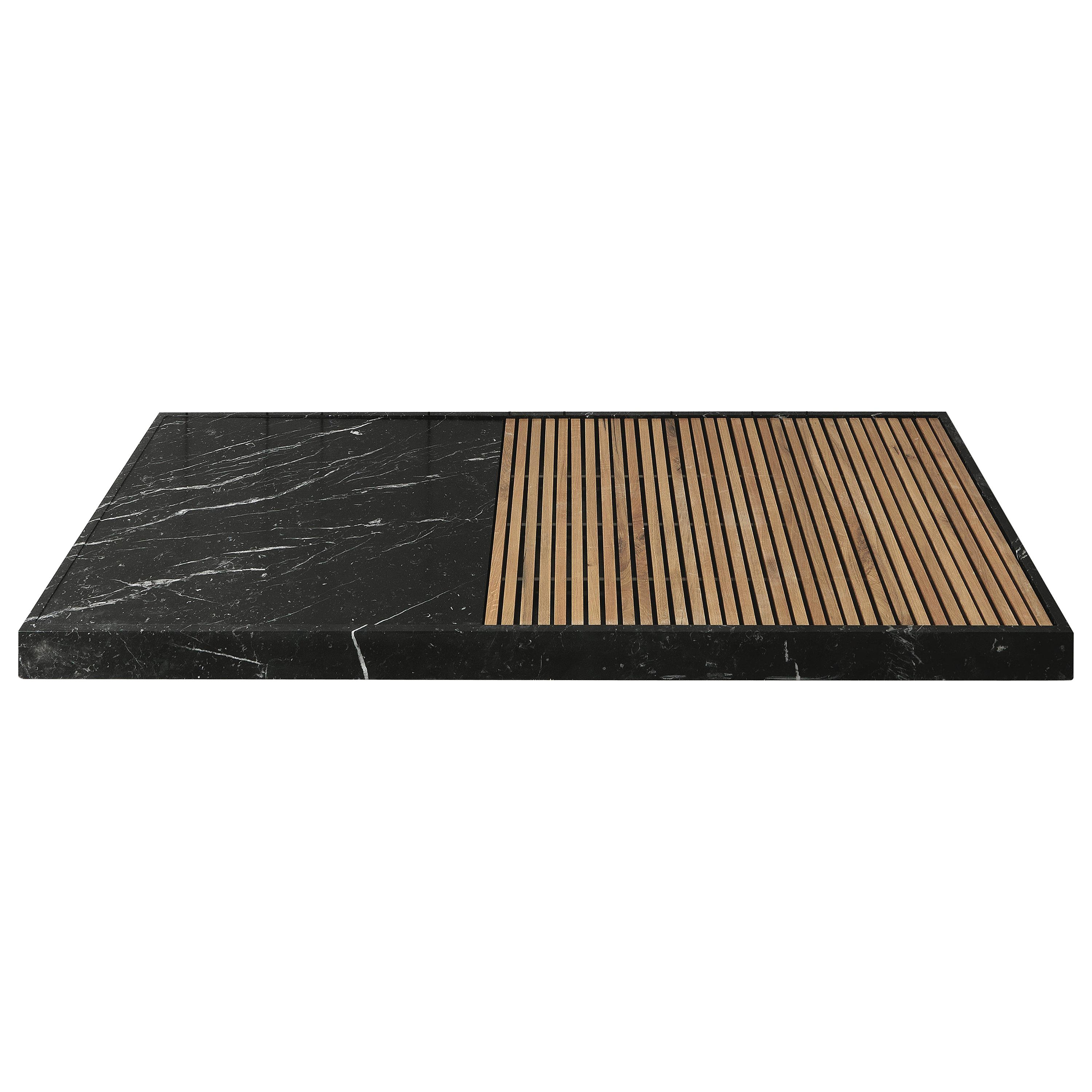 "Shower Tray ""Cambiaro"" Made of Marble and Wood Customizable"