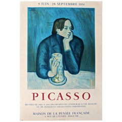Picasso 1954 Mourlot Poster reproducing a 'Blue Period' Painting