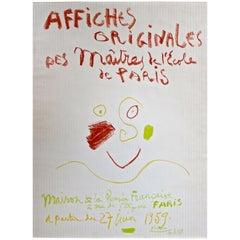"""Picasso """"Affiches Originales des Maitres de l'Ecole de Paris"""" 1959 Poster"""