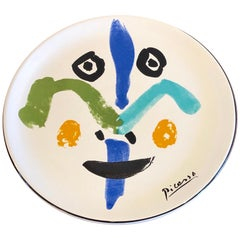 "Picasso Ceramic Decorative Plate ""Face 1963"" Masterpiece Edition"