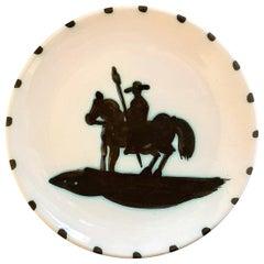 """Picasso Ceramic Edition Madoura """"Picador"""" Round Plate, 1952"""