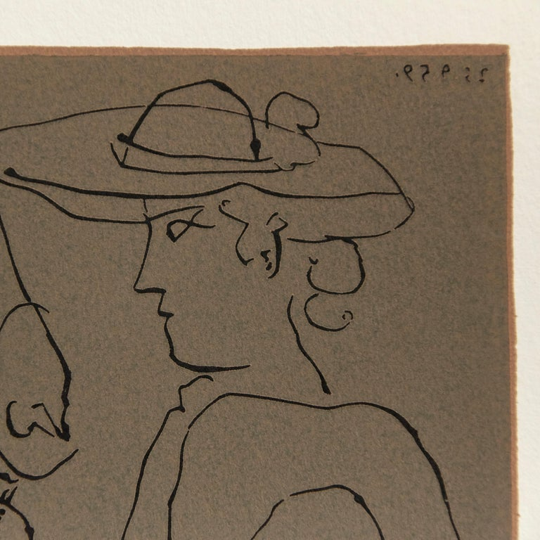 Mid-Century Modern Picasso Drawing Lithography For Sale
