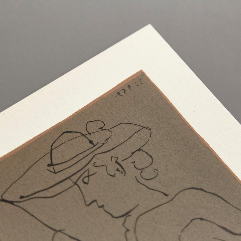 Late 20th Century Picasso Drawing Lithography For Sale