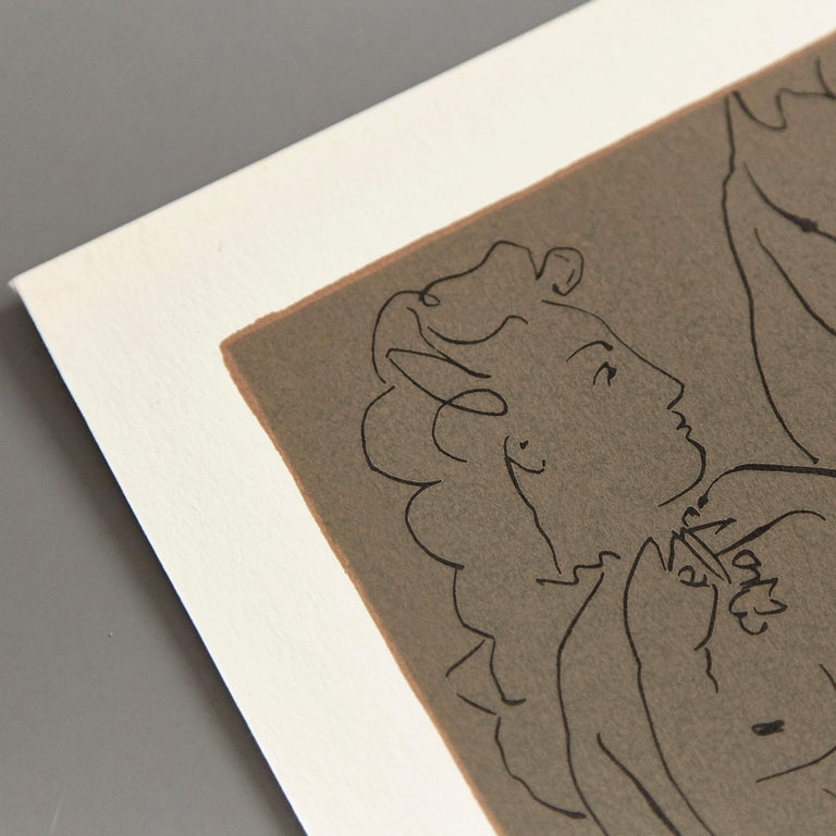 Paper Picasso Drawing Lithography For Sale
