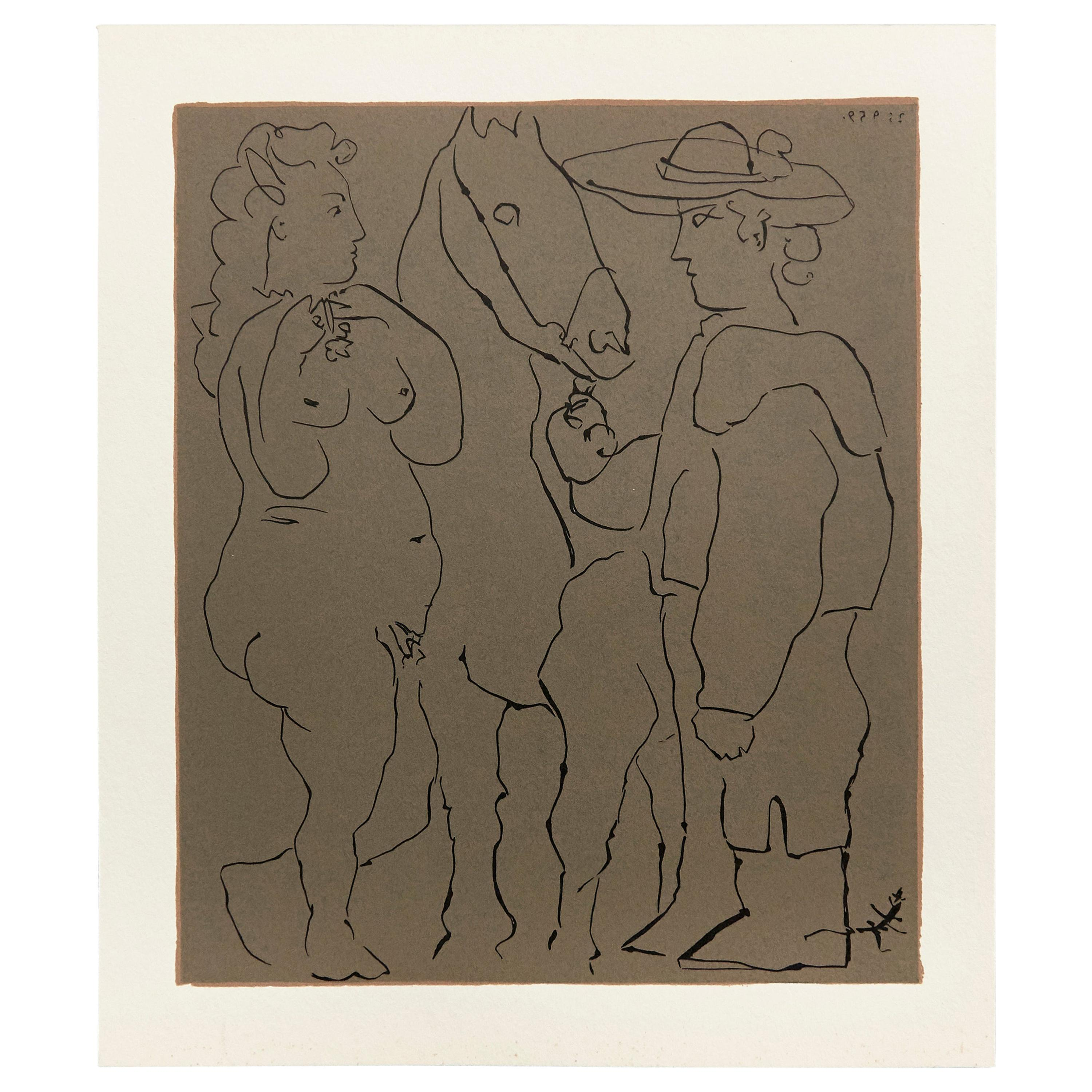 Picasso Drawing Lithography