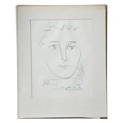 Picasso Etching Signed and Titled in the Plate