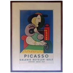 Poster-Lithographie für eine Picasso-Ausstellung 1967