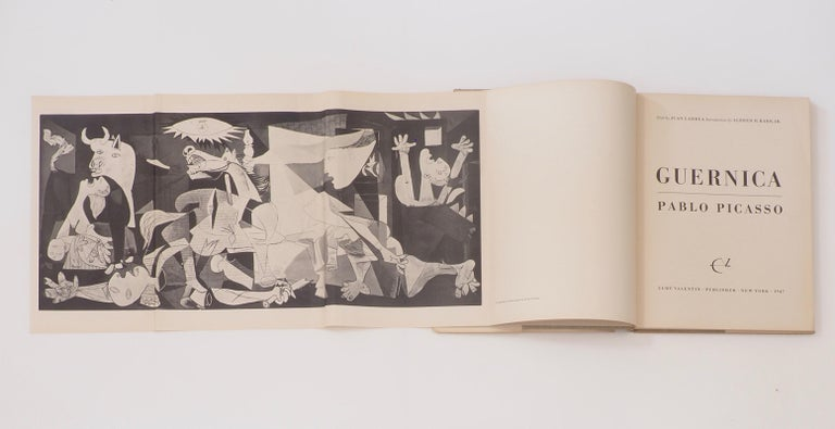 Picasso. Guernica. Curt Valentin, New York, 1947. First Edition. By Alfred H. Barr (then director of the Museum of Modern Art, New York).  A beautiful book, rare to find in such a good dust jacket. The first major English Language study of