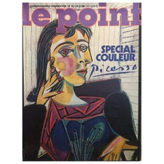 Vintage Poster Original Picasso 'Le Point' Poster Modern Art Design Large size