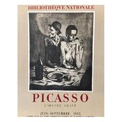 """""""PICASSO l'œuvre gravé"""" 1955 Original Vintage Poster"""