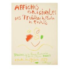 Picasso, Maitres De l'Ecole De Paris, Original Poster, 1959