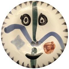 """Picasso Original Ceramic Bowl """"Visage de face"""" Numbered 186/500"""
