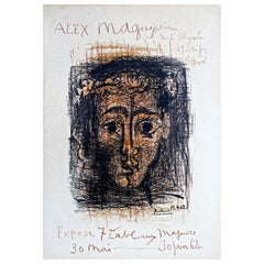Picasso original Mourlot stone lithograph poster for Alex Maguy Gallery, 1962