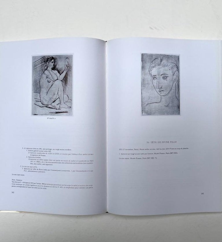 Picasso Peintre-Graveur: Catalogue illustré de l'oeuvre gravé et lithographie 1899-1931.  By Bernhard Geiser  Published by Editions Kornfeld & Klipstein, Bern 1990. Hardback revised French language edition.  Volume one of Picasso's Complete